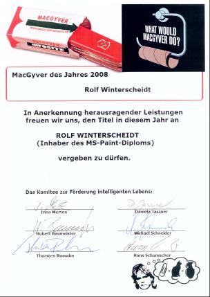 MacGyver-Diplom